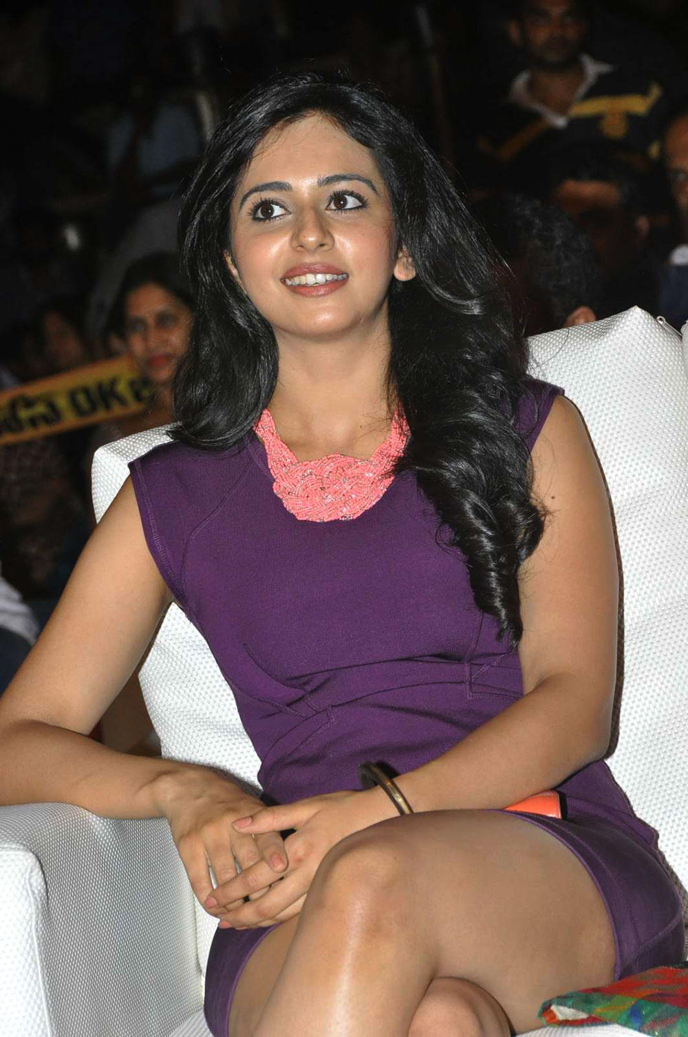 sexy diva Rakul preet singh latest hot photos gallery at hotal event