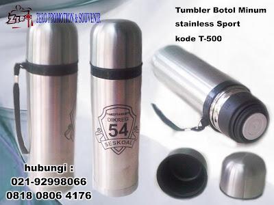 Tumbler Botol Minum stainless Sport, Botol Minum, Tumbler T-500, Tumbler Air Minum Stainless Steel , Tumbler promosi, tumbler stainless steel, Botol termos promosi, BOTOL TERMOS AIR PANAS