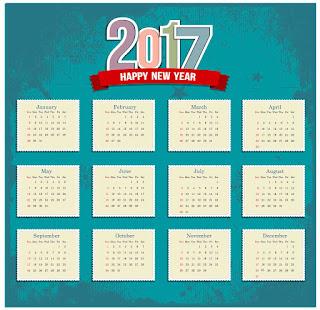 2017カレンダー無料テンプレート5