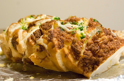 Cheese-stuffed garlic bread