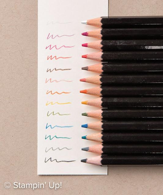 crayons aquarelle stampinup