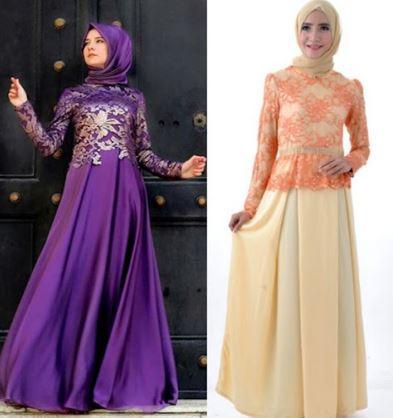 Gambar Model Gaun Pesta Muslim Modern Paling Trendi ...