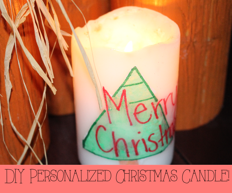 Easy Christmas Craft For The Kids Personalized Candles Using Sharpies