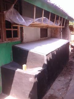 Skema Bak Penampungan kotoran ternak untuk Biogas