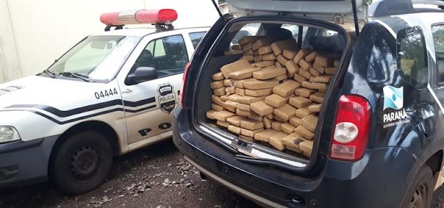 Iretama: Polícia Civil incinera droga apreendida
