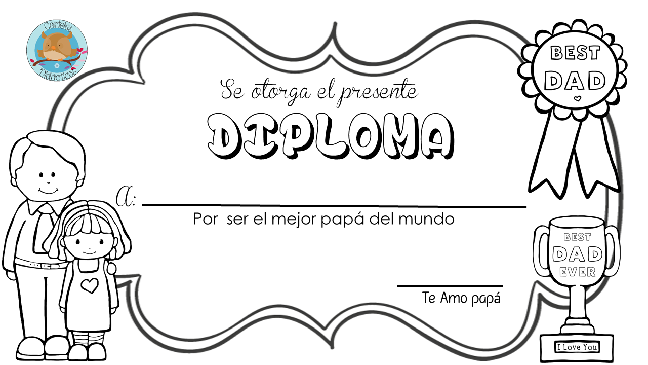 Colección de Gifs ®: IMÁGENES Y DIPLOMAS POR EL DÍA DEL PADRE PARA ...