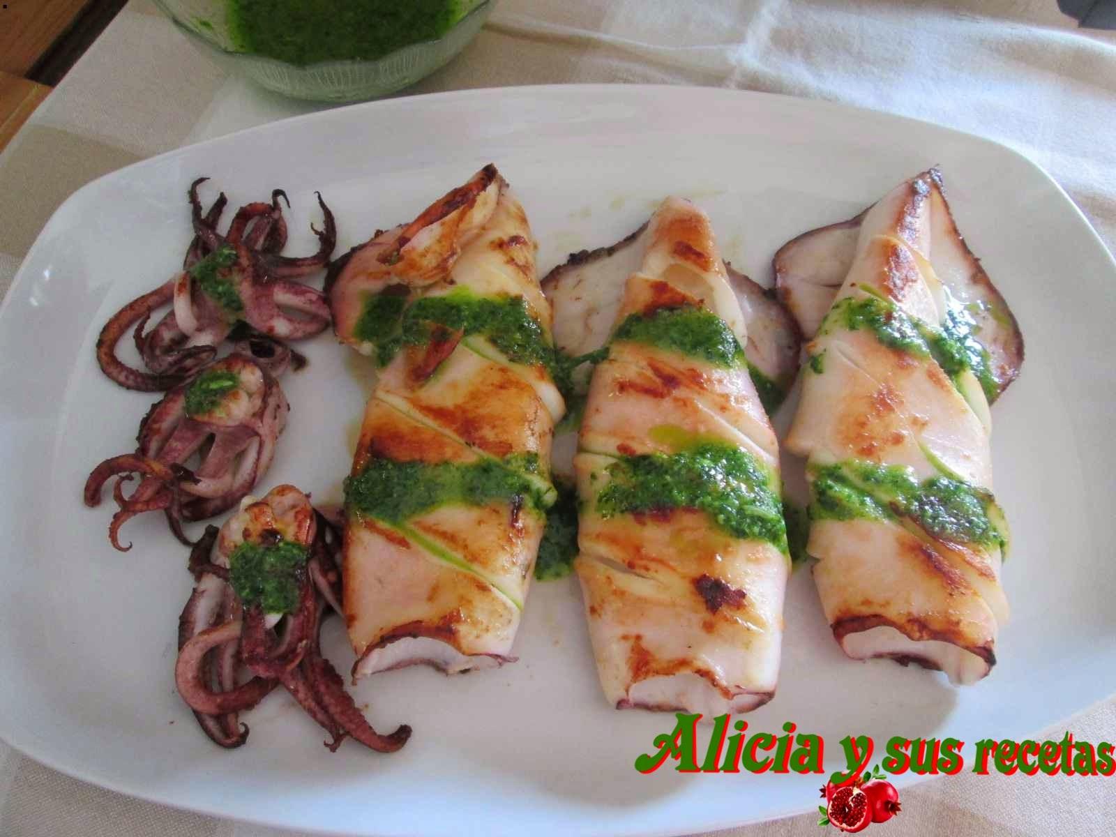 Alicia Y Sus Recetas Calamares A La Plancha Al Ajo Perejil