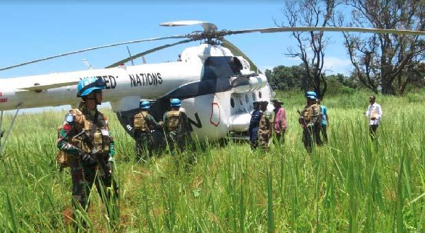 Satgas TNI Konga RDB Monusco Gelar Joint Activity Mission Baraza