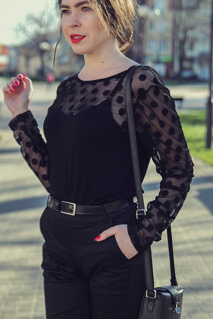 dots, kropki czerń, black