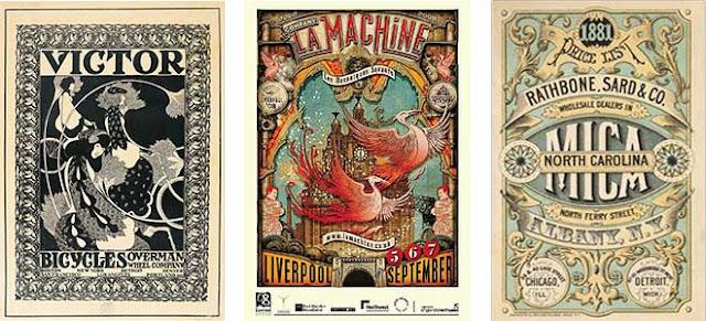 Victorian style graphic design