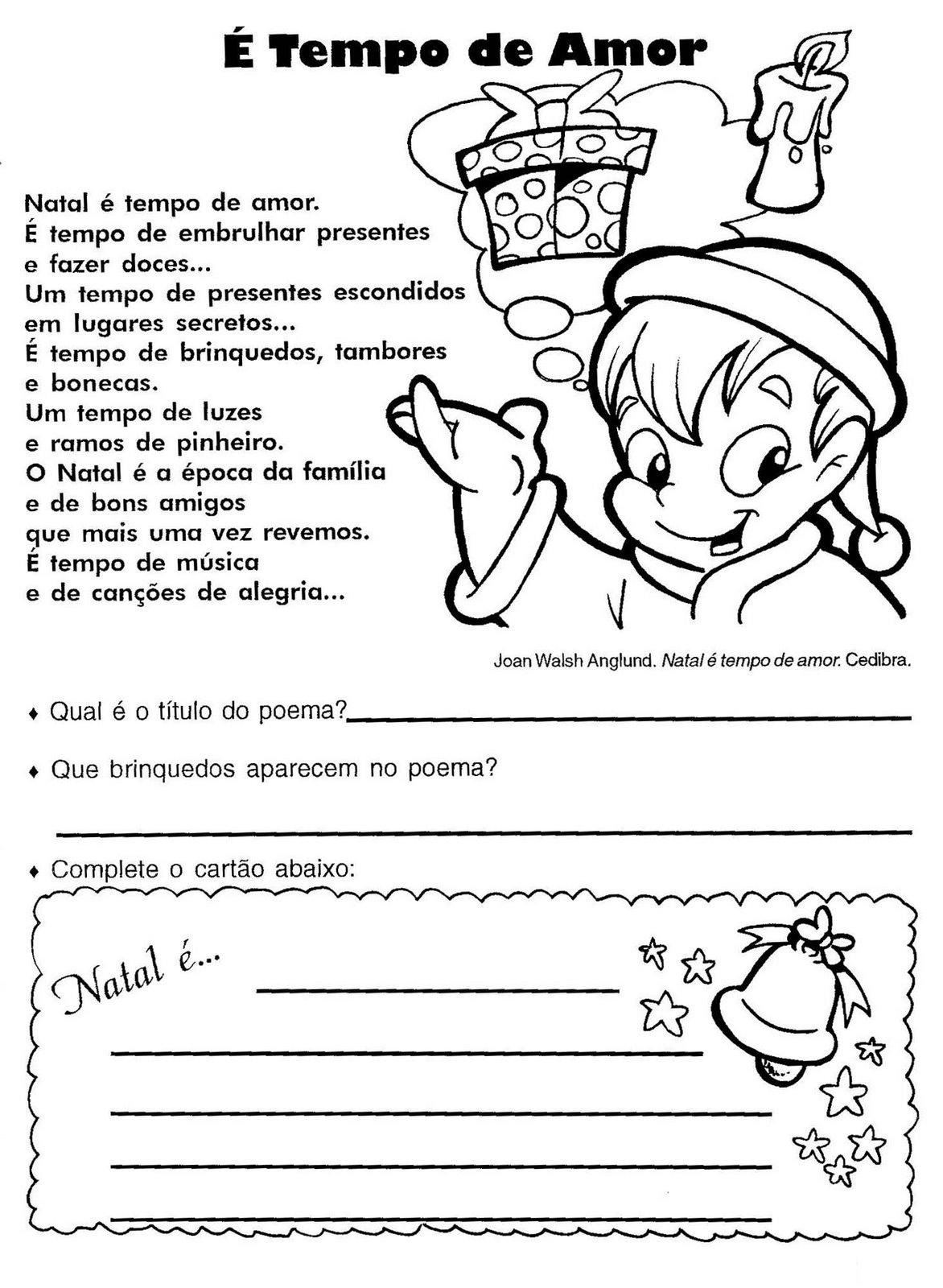 70 Atividades Natal Interpretacao De Texto Producao De Texto