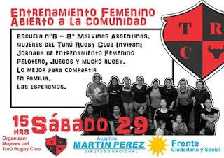 Éste sábado, entrenamiento abierto de rugby femenino