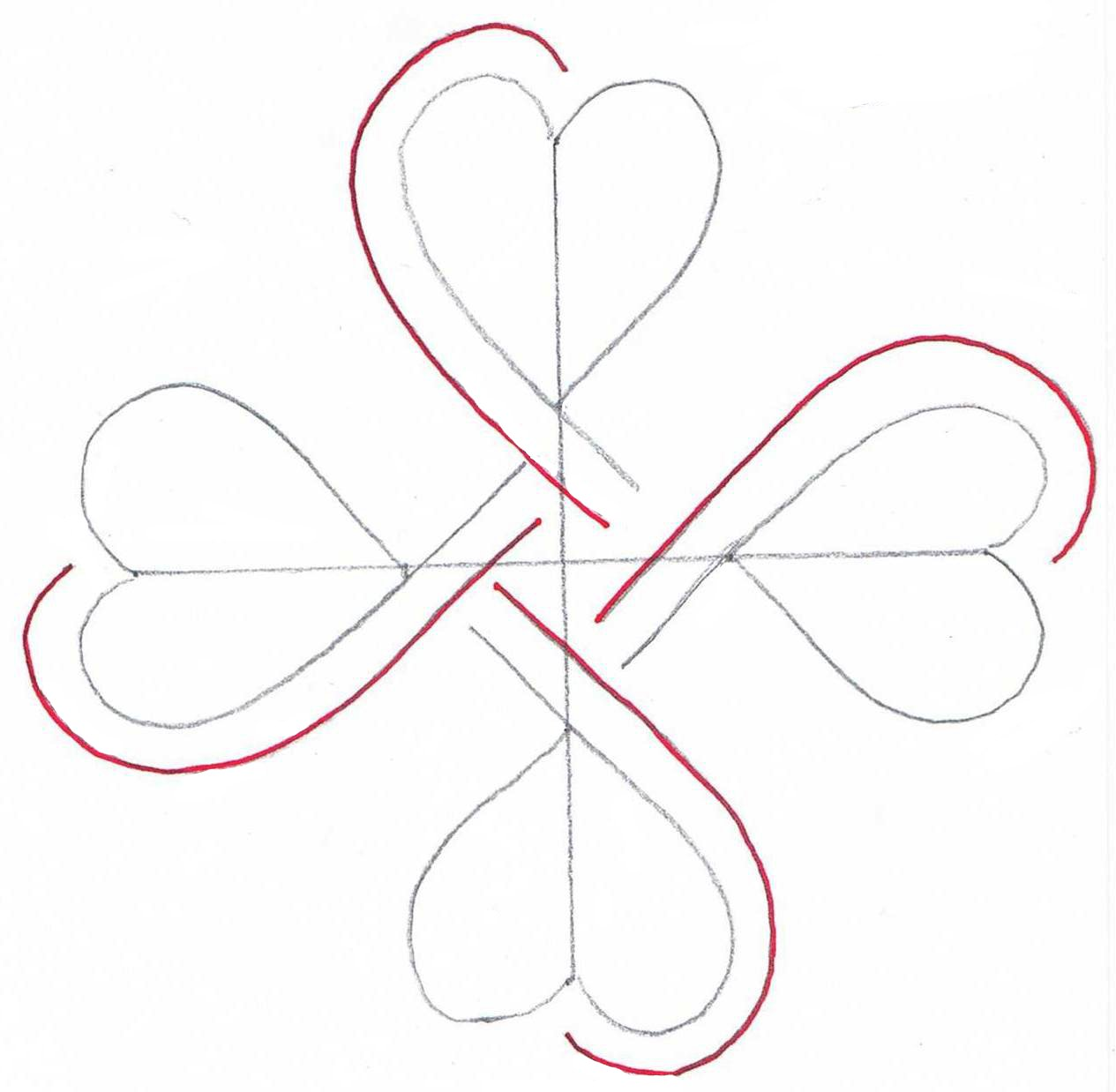 Simple Heart Line Art : Creative doodling with judy west celtic challenge
