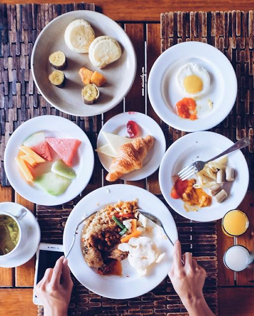 menu buffet nyiur restaurant putri duyung cottage