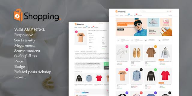 Shopping AMP HTML Responsive Blogger Template