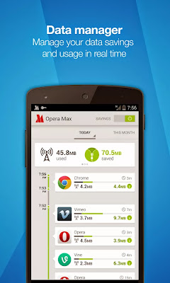 Opera  Max (Aplikasi penghematan kuota)