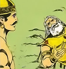 Bhishma advises Yudhistra on his death bed of arrows_ Shanti Parva-115
