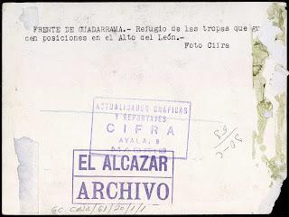 guerra civil Cabeza Lijar y Puerto del León (Guadarrama)  el espinar, san rafael villacastín. segovia