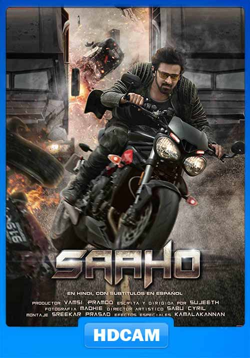 Saaho 2019 Hindi 720p PreDVDRip x264 | 480p 300MB | 100MB HEVC