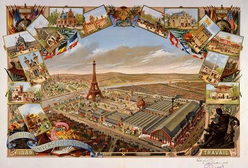 Vista geral da Exposição de 1889