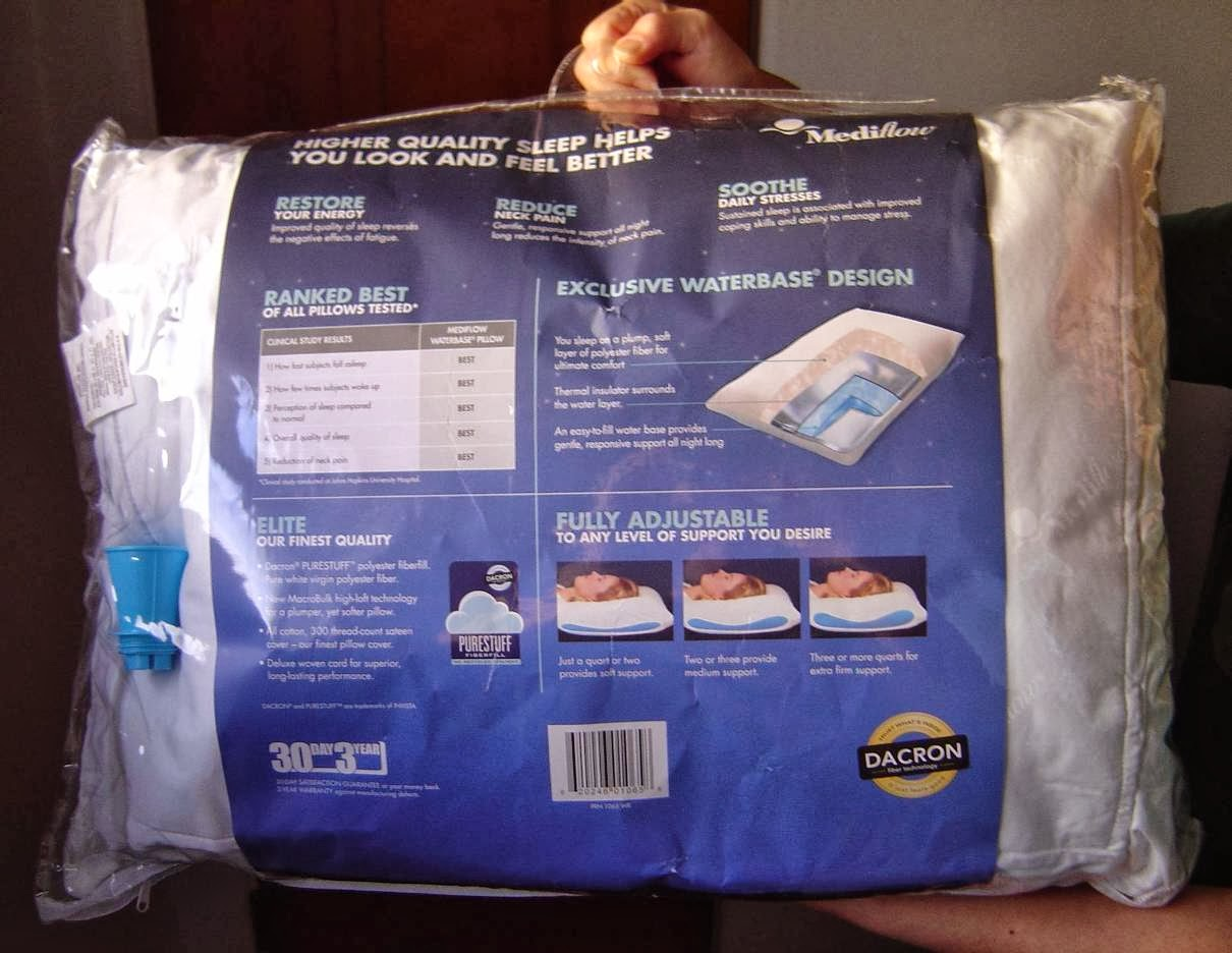 back of Mediflow Elite Waterbase Pillow package.jpeg
