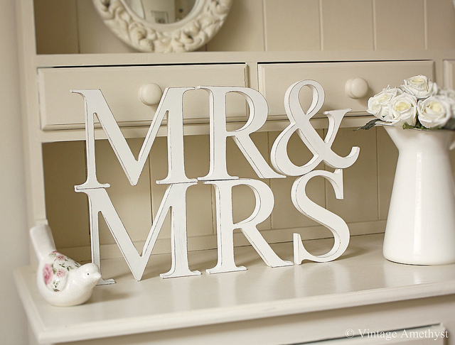 Mr And Mrs Large Wooden Letters: Wedding Head Table Decorations Ideas Mr And Mrs Photograph
