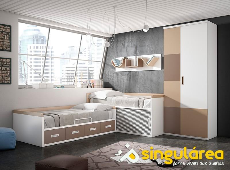 Blog dormitorios juveniles valencia inspiraci n camas for Dormitorios juveniles dos camas en l