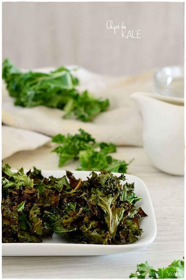 chips de kale- chips de kale papas de col crujientes- receta: chips de kale- cómo hacer chips de kale - crispy kale chips-