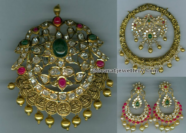 Pachi Pendant with Ruby Chandbalis
