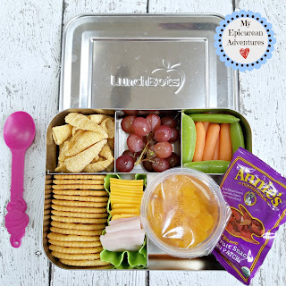 Lunch box fun with cheese and cracker lunchables