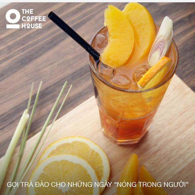 Nước trà đào rất được ưa chuộng tại coffee House