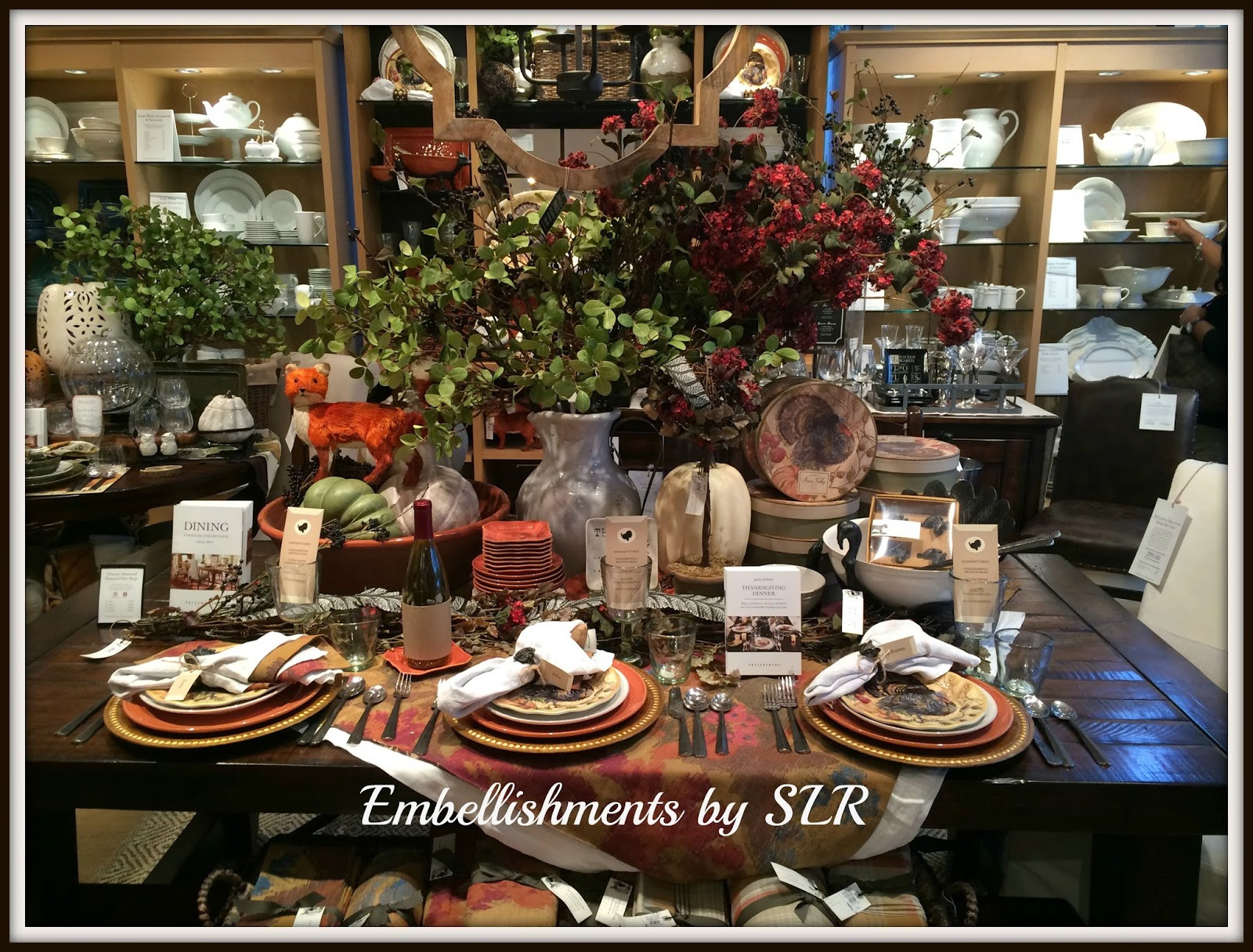 Embellishments By SLR: ~Pottery Barn Tablescape In Charleston~