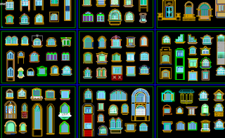 بلوكات أوتوكاد معمارية - مجموعة بلوكات للرسم المعماري autocad