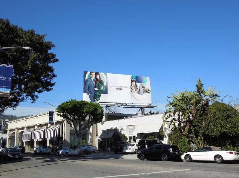 Banana Republic Mad Men S13 billboard
