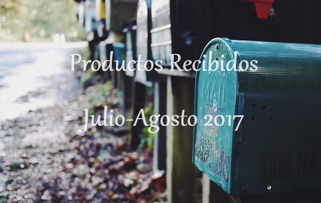 Productos Recibidos Julio-Agosto 2017