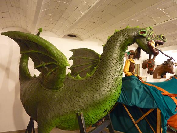 Dragón de Solsona para el desfile de Gigantes