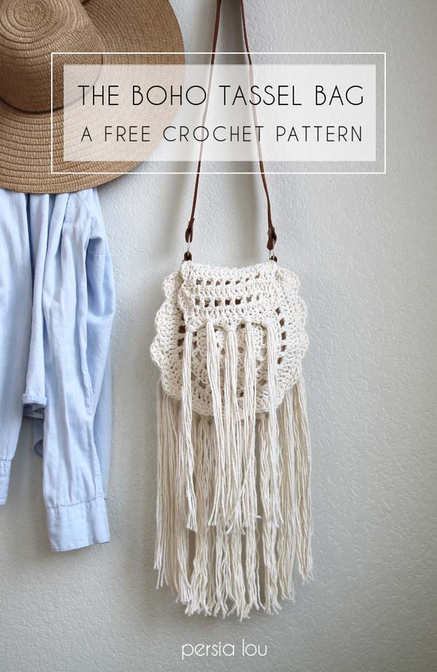 Easy Crochet Projects Bag With Free Step By Step Tutorials - crochet, crochet tutorials, crochet projects, easy diy projects, crochet for beginners