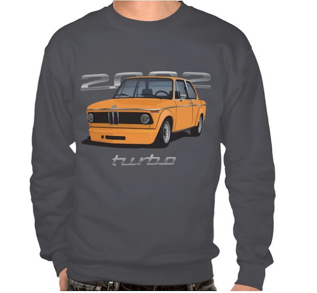 BMW 2002 turbo t-shirt 70's