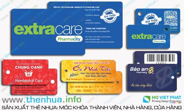 In thẻ khách hàng ép kim giá rẻ số ít