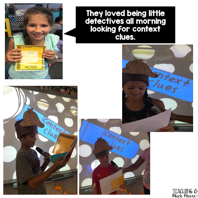 context clue detectives in action, lesson ideas and printables