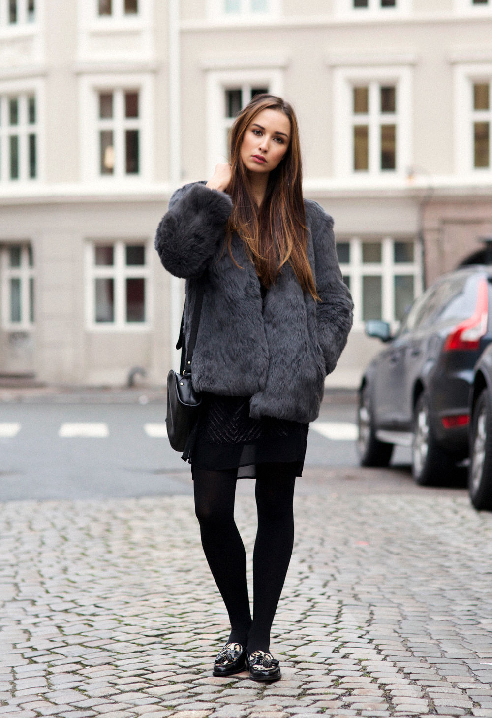 b9f61bb3a5a9 Fluffy Trend, 2014: Marianna Mäkelä is wearing a fluffy faux fur jacket  from Zara.