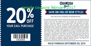 free OshKosh B'gosh coupons for february 2017