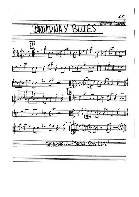 Partitura Trombón Ornette Coleman
