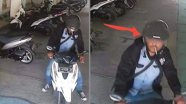 Ditinggal Shalat, Motor Hilang di Masjid, Pemilik Unggah Rekaman CCTV di FB, ini Tampang Pencurinya