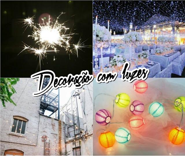 Decoração com luzes de natal