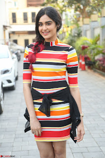 Adha Sharma in a Cute ed Short Tight Colorful Dress Spicy Pics Feb 2017 003.JPG