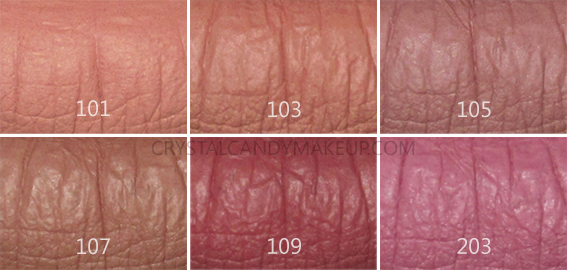 Make Up For Ever MUFE Artist Liquid Matte Lip Colors Swatches 101 103 105 107 109 203