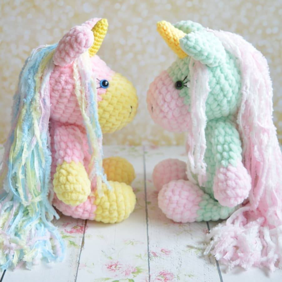 Crochet unicorn toy