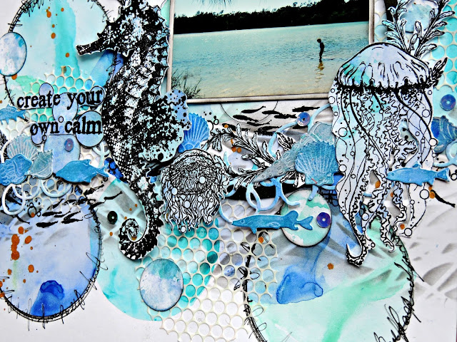 under the sea - scrapbook layout