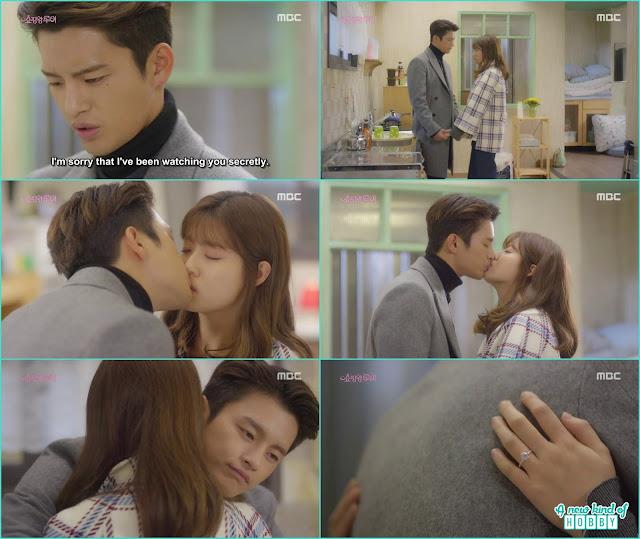 louis and bok shil kiss in the kitchen - Shopping King Louis (Kisses) korean Drama